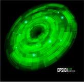 De abstracte achtergrond van de Cirkel Techno. Eps 10. Royalty-vrije Stock Foto's