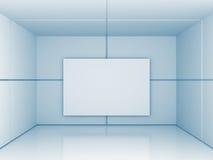 De abstracte Achtergrond van de de Bannerarchitectuur van de Galerijmuur Stock Afbeeldingen