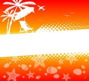De abstracte achtergrond van de de zomervakantie Stock Illustratie