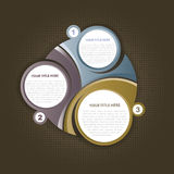 De abstracte achtergrond van de drie sectiebanner Royalty-vrije Stock Afbeeldingen