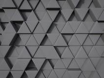 De abstracte achtergrond van de driehoeksvorm in grijze kleuren willekeurige positie vector illustratie