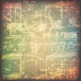 De abstracte achtergrond van de grungemuziek Royalty-vrije Stock Afbeeldingen