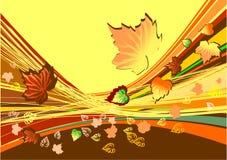 De abstracte achtergrond van de herfst vector illustratie