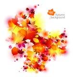 De abstracte achtergrond van de herfstbladeren Royalty-vrije Stock Fotografie