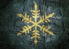 De abstracte achtergrond van de hulpoppervlakte met sneeuwvlok Royalty-vrije Stock Foto's