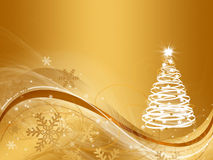 De abstracte achtergrond van de Kerstmisboom royalty-vrije illustratie
