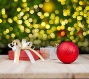De abstracte achtergrond van de Kerstmisdecoratie Royalty-vrije Stock Foto's