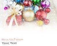 De abstracte achtergrond van de Kerstmisdecoratie Stock Afbeeldingen