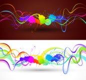 De abstracte achtergrond van de kleur Stock Afbeeldingen