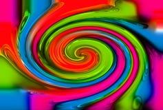 De abstracte achtergrond van de kleurendraai Stock Foto