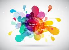 De abstracte achtergrond van de kleurenplons