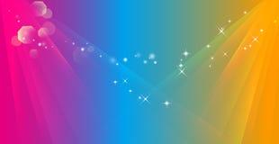 De abstracte achtergrond van de kleurenstraal Royalty-vrije Stock Afbeelding