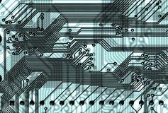 De abstracte achtergrond van de kringsraad in hoogte - technologiestijl Stock Afbeelding