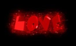 De abstracte achtergrond van de liefde Stock Foto's