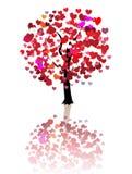 De abstracte achtergrond van de liefdeboom Stock Afbeelding