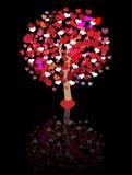 De abstracte achtergrond van de liefdeboom Royalty-vrije Stock Afbeeldingen