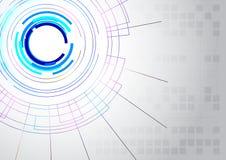 De abstracte achtergrond van de lijntechnologie Stock Foto