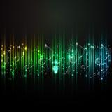 De abstracte achtergrond van de muziek Royalty-vrije Stock Foto