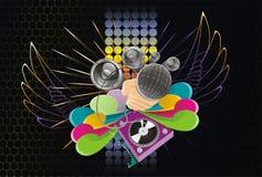 De abstracte achtergrond van de muziekkunst Royalty-vrije Stock Afbeelding