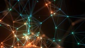 De abstracte achtergrond van de netwerkverbinding Stock Afbeelding