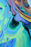 De abstracte Achtergrond van de Ontwerpcreativiteit van Blauwe en Groene Golven Stock Foto's