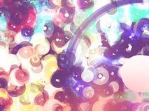 De abstracte achtergrond van de pastelkleurcirkel Stock Foto