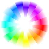 De abstracte achtergrond van de regenboogcirkel stock afbeeldingen