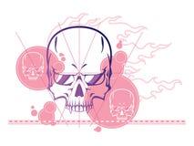 De abstracte achtergrond van de schedel Royalty-vrije Stock Afbeeldingen