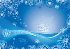 De abstracte achtergrond van de sneeuwvlok Royalty-vrije Stock Fotografie