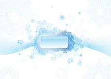 De abstracte achtergrond van de sneeuwvlok Stock Fotografie