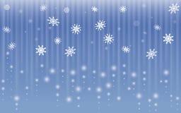 De abstracte achtergrond van de sneeuwvlokdaling royalty-vrije illustratie