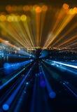 De abstracte achtergrond van de stads bokeh lichten van het gezoemonduidelijke beeld Stock Afbeelding