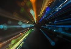 De abstracte achtergrond van de stads bokeh lichten van het gezoemonduidelijke beeld Stock Afbeeldingen