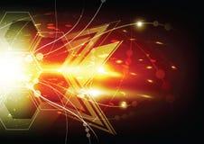De abstracte achtergrond van de sterexplosie royalty-vrije illustratie