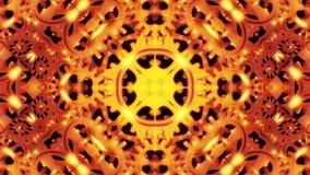 De Abstracte Achtergrond van de tandraderencaleidoscoop stock footage