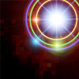 De abstracte achtergrond van de technologie glanzende cirkel Stock Fotografie