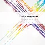 De abstracte achtergrond van de technologie vectorlijn Stock Afbeelding