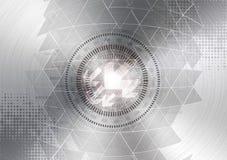 De abstracte achtergrond van de technologiecirkel Royalty-vrije Stock Afbeelding