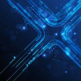 De abstracte achtergrond van de technologielijn Stock Foto's