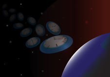De abstracte achtergrond van de Tijdreis, vectorillustratie Royalty-vrije Stock Foto