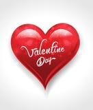 De abstracte achtergrond van de valentijnskaartdag met hart Stock Afbeelding