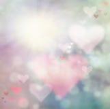 De abstracte achtergrond van de valentijnskaartendag Stock Foto