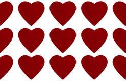De abstracte achtergrond van de valentijnskaartendag met hartvorm Stock Foto's