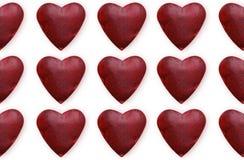 De abstracte achtergrond van de valentijnskaartendag met hartvorm Stock Fotografie