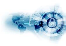 De abstracte achtergrond van de veiligheids digitale technologie illustratievector Royalty-vrije Stock Fotografie