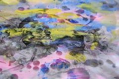 De abstracte achtergrond van de waswaterverf in levendige tinten Royalty-vrije Stock Afbeelding