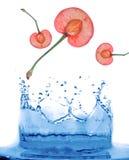 De abstracte achtergrond van de waterplons Royalty-vrije Stock Foto's