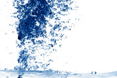 de abstracte achtergrond van de waterplons Stock Fotografie