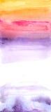De abstracte achtergrond van de waterverfhand geschilderde kleur, Royalty-vrije Stock Fotografie