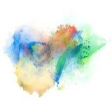 De abstracte achtergrond van de waterverfplons Royalty-vrije Stock Afbeelding